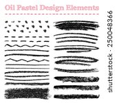 set of oil pastel brush strokes ... | Shutterstock .eps vector #250048366
