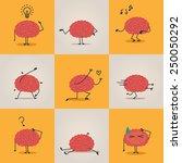 brain character | Shutterstock .eps vector #250050292
