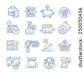 modern line icons of developing ... | Shutterstock .eps vector #250050436