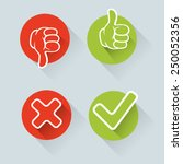 yes  no  thumbs up and down... | Shutterstock .eps vector #250052356