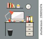 conceptual flat design... | Shutterstock .eps vector #250052476