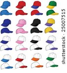 a variety of sports caps  ... | Shutterstock .eps vector #25007515