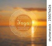 vector yoga illustration. name... | Shutterstock .eps vector #250076626