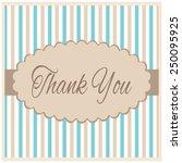 thank you   card | Shutterstock . vector #250095925