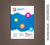 brochure or flyer design. sale... | Shutterstock .eps vector #250100242