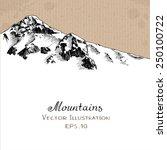 snow peak. hand drawn vector... | Shutterstock .eps vector #250100722