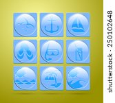 set of nine vocation icon. | Shutterstock .eps vector #250102648