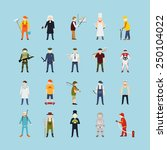 people professions  | Shutterstock . vector #250104022