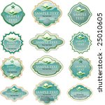 vector turquoise labels for... | Shutterstock .eps vector #25010605