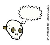 cartoon skull mask with speech... | Shutterstock . vector #250106338