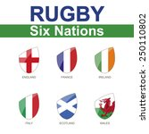 rugby six nations championship  ... | Shutterstock .eps vector #250110802