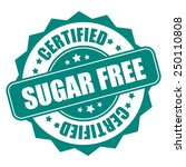 green sugar free certified icon ... | Shutterstock . vector #250110808