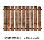 Wooden fence on white background