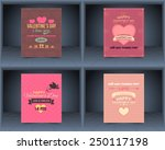 valentines day flat celebration ... | Shutterstock .eps vector #250117198