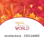 world travel | Shutterstock .eps vector #250126885