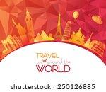 world travel | Shutterstock .eps vector #250126885