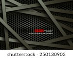 black bars over dark honeycomb... | Shutterstock .eps vector #250130902