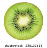 Cross Section Of Ripe Kiwi...
