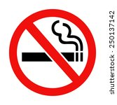 no smoking sign isolated  on... | Shutterstock . vector #250137142