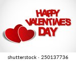 happy valentines day card.... | Shutterstock .eps vector #250137736