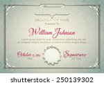 silver classic certificate with ... | Shutterstock .eps vector #250139302