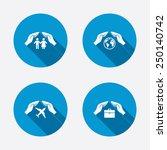 hands insurance icons. human...   Shutterstock .eps vector #250140742