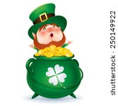leprechaun and a pot of gold | Shutterstock .eps vector #250149922