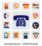 vector color phone icons on...