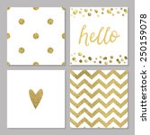 Cute Cards With Gold Confetti...