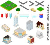 isometric map icons for... | Shutterstock .eps vector #250163152