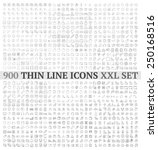 Thin line icons exclusive XXL icons set contains: universal  interface, navigation, people, web store, finance themes, and many other. | Shutterstock vector #250168516