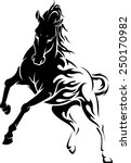 Stock vector wild horse abstract flame 250170982