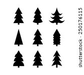 icon set of christmas trees....   Shutterstock .eps vector #250176115