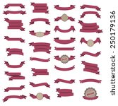ribbon sticker set. vector... | Shutterstock .eps vector #250179136