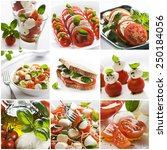 fresh caprese collage made from ... | Shutterstock . vector #250184056
