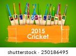 illustration of cricket bat of... | Shutterstock .eps vector #250186495