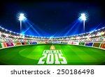 illustration of stadium of... | Shutterstock .eps vector #250186498