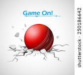 illustration of cricket ball... | Shutterstock .eps vector #250186642
