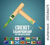 illustration of cricket bat of... | Shutterstock .eps vector #250186675