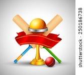 illustration of golden trophy... | Shutterstock .eps vector #250186738