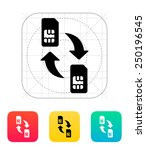 replacement and exchange sim... | Shutterstock .eps vector #250196545