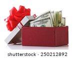 Bundle Of Dollars In Present...