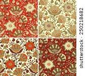 seamless floral patterns set.... | Shutterstock .eps vector #250218682