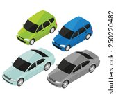 isometric vector style family... | Shutterstock .eps vector #250220482