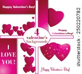 valentines day. abstract paper... | Shutterstock .eps vector #250220782
