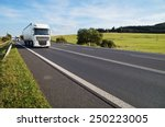 asphalt road in a rural... | Shutterstock . vector #250223005
