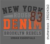 typographic denim product... | Shutterstock .eps vector #250224262