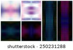 vector set of color dotted... | Shutterstock .eps vector #250231288