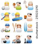occupation icons  sports  | Shutterstock .eps vector #25023190