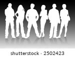 vector silhouettes man and... | Shutterstock .eps vector #2502423